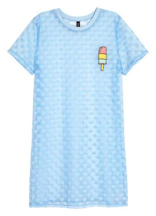 Платье футболка сетка