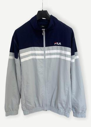 Куртка вітровка ветровка fila вінтаж винтажная сіра синя оригінал