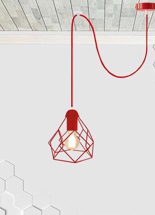 Подвесной светильник на 1-лампу RUBY/SP-R E27 красный