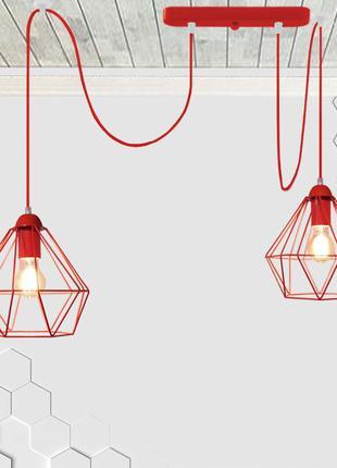 Подвесной светильник на 2-лампы CLASSIC/SP-2R E27 красный