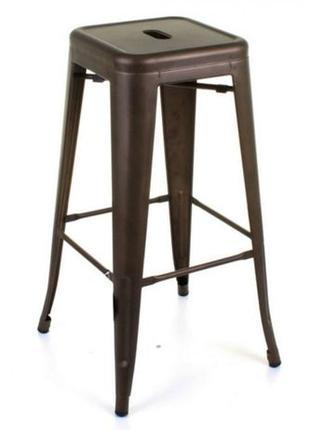 Высокий барный стул-табурет Tolix MC-012 graphite (графит) H-760