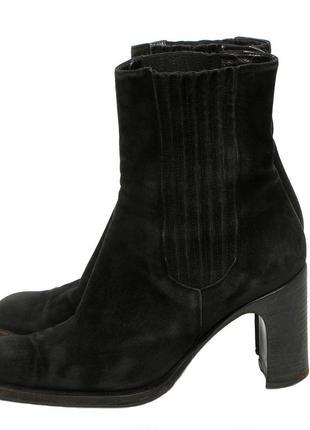 VIVIEN LEE Италия р 38 женские сапоги нубуковые ботинки полуса...