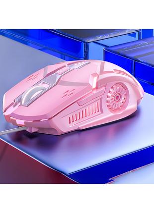 Игровая проводная мышь e-Sports G5 3200 DPI Розовый