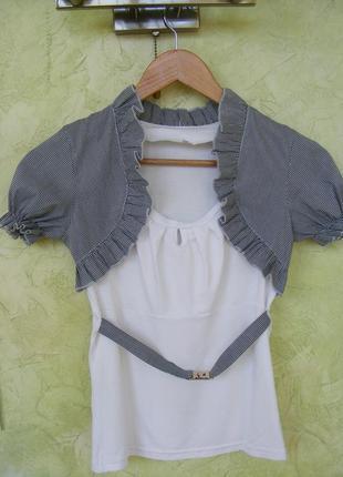 Блуза трикотажная с коротким рукавом