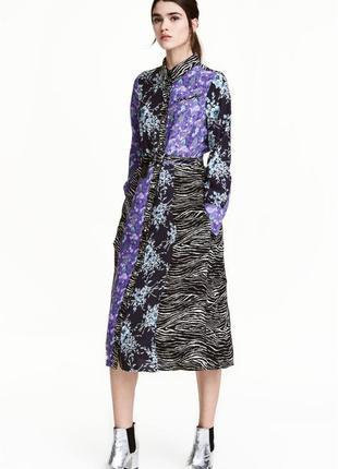 Платье-рубашка с поясом h&m маленький размер