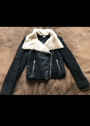Дублёнка, косуха, Куртка женская,черная