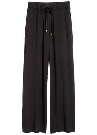 Широкие брюки из вискозы h&m