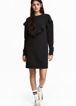 Байковое платье с оборками h&m