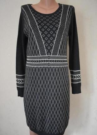 Новое теплое платье с принтом george
