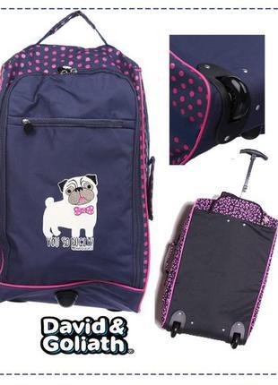 Дорожная сумка на колесах, чемодан david & goliath, usa