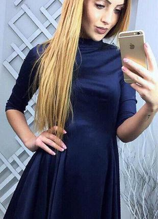 Платье искуственный замш премиум качество milani style
