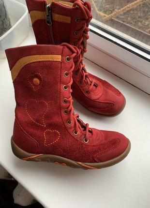 Идеальные кожаные демисезонные ботинки elefanten качество неме...