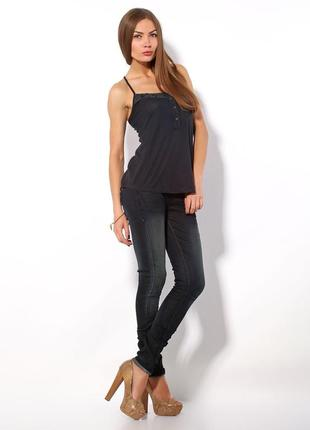 Узкие джинсы с потертостями от bershka