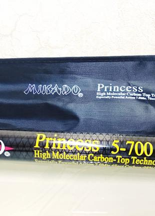 Болонское удилище карбон с кольцами Mikado Princess 7 м