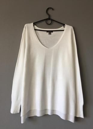 Белоснежный пуловер primark 18-20--54-56 размер.