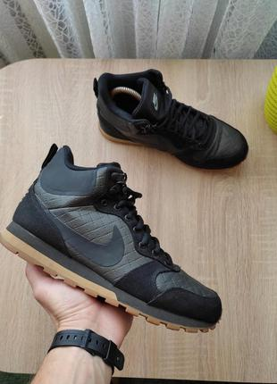Зимние кроссовки ботинки nike md runner 2 mid premium