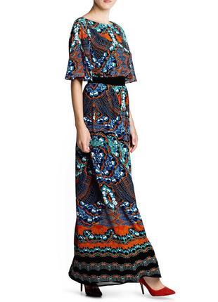 Новое платье в пол от mango с принтом маленький размер