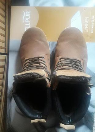 Рыжие ботинки. зимние ботинки . теплые ботинки.