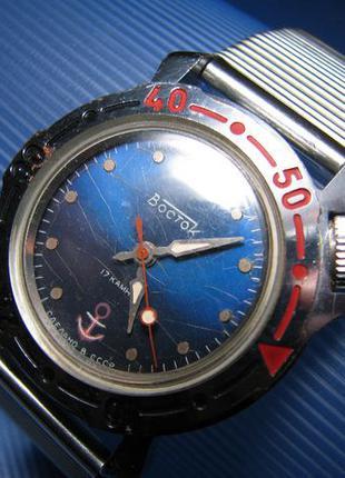 """Часы механические Восток """"малая Амфибия"""" с якорем 17 камней СС..."""