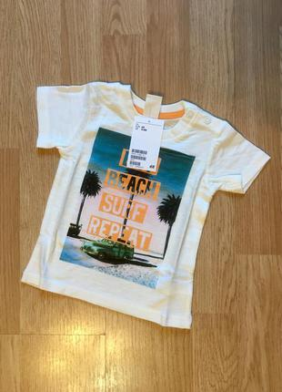 Стильная футболка для малыша h&m, размер 4-6 месяцев, 68
