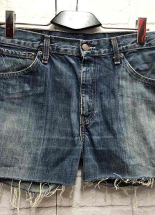 Винтажные джинсовые шорты на высокой посадке levis (2156)