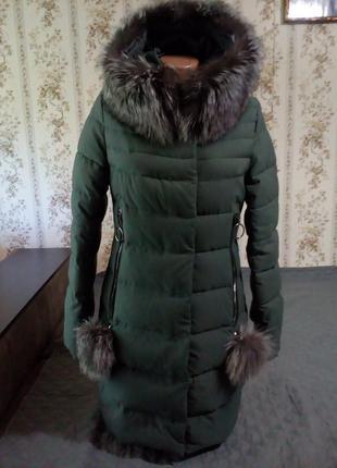 Классный теплый пуховик, зимняя куртка