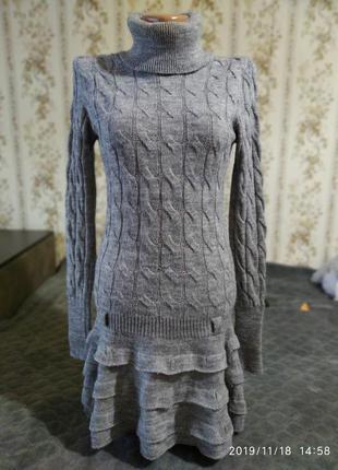 Вязаное мягенькое платье, туника