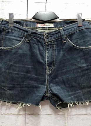 Винтажные джинсовые шорты на высокой посадке levis (2157)