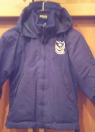 Куртка , 2-х сторонняя, внутри флис.  portsmouth fc.
