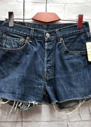 Винтажные джинсовые шорты на высокой посадке levis (2158)