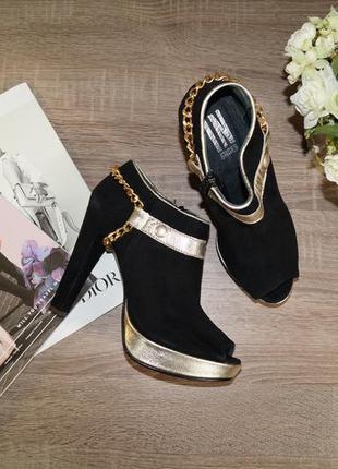 Нарядные ботиночки из натуральной замши