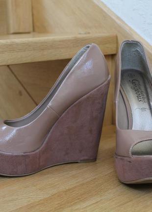 Бежевые туфли new look