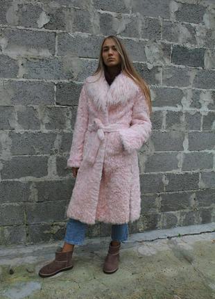 Французская натуральная розовая меховая пальто шуба mordgan de...