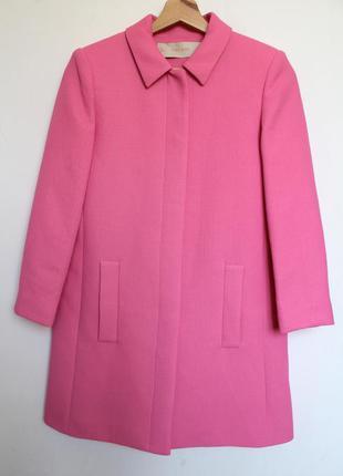 Zara пальто весеннее розовое