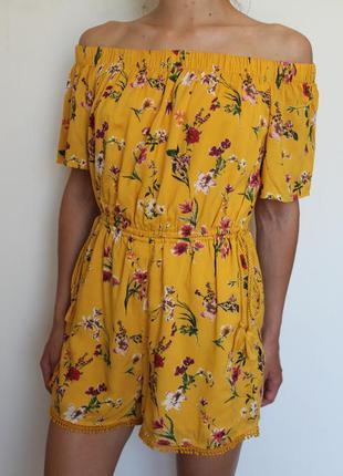 Bershka платье комбинезон в бохо стиле