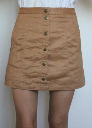 H&m замшевая юбка на кнопках
