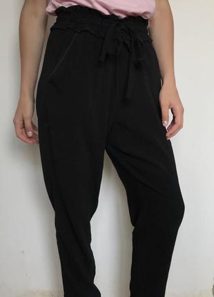 Zara штаны с высокой посадкой брюки