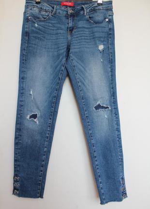 Guess джинсы женские бойфренд зауженные