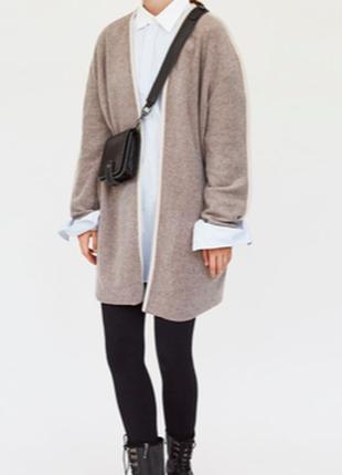 Zara пальто кардиган накидка на запах