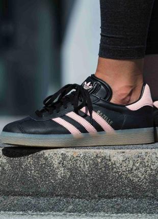 Adidas gazele женские кожаные кроссовки