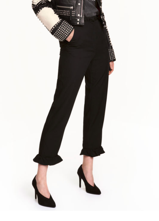 H&m брюки штаны с рюшами