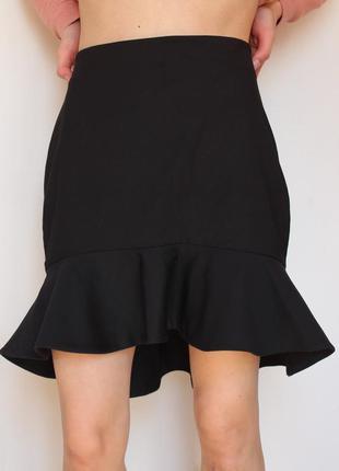 Zara юбка колокольчик с воланом