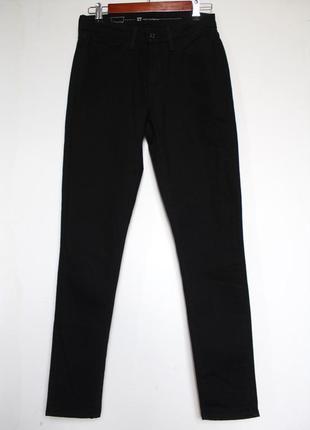 Levis черные джинсы с высокой посадкой талией