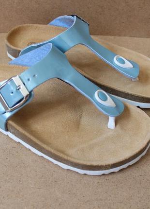 Кожаные сандалии босоножки типа birkenstock