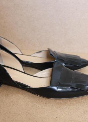 Navyboot кожаные балетки черные