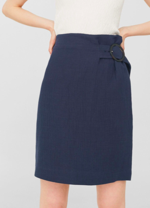 Mango новая юбка с поясом на талии