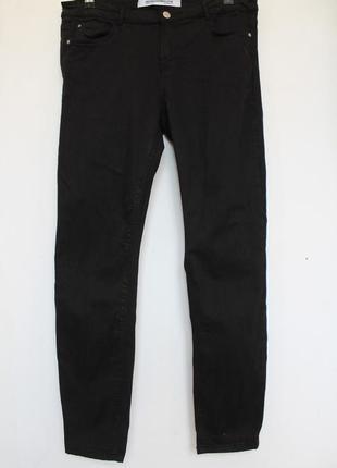 Zara эластичные джинсы с высокой посадкой черные