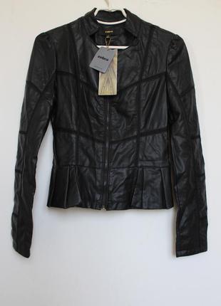 Zebra новая кожаная куртка