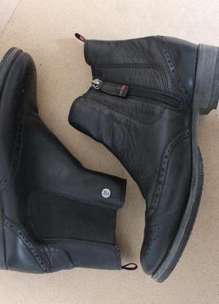 Tommy hilfiger кожаные ботинки челси