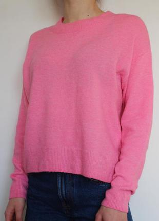 H&m свитер неоновый розовый